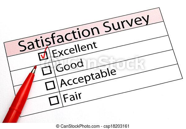 client, évaluation, service, formulaire - csp18203161