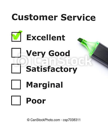 client, évaluation, service - csp7038311