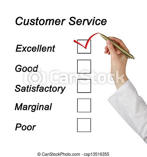 client, évaluation, service - csp13516355