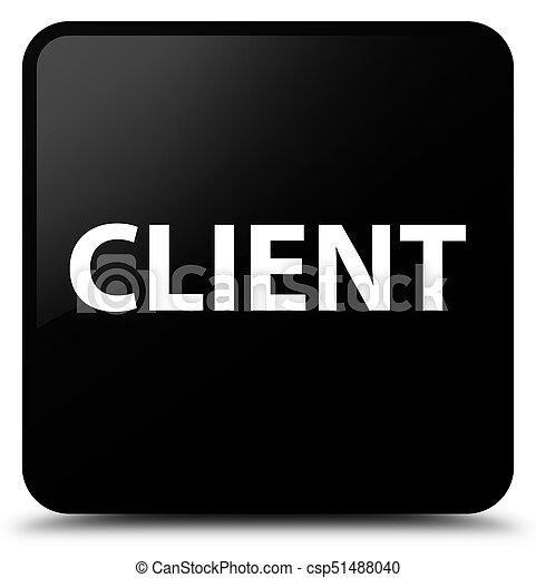 Client black square button - csp51488040