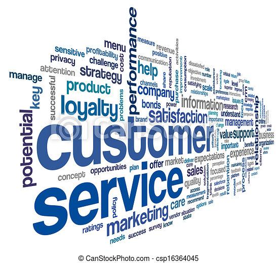 client, concept, mot, nuage, service - csp16364045