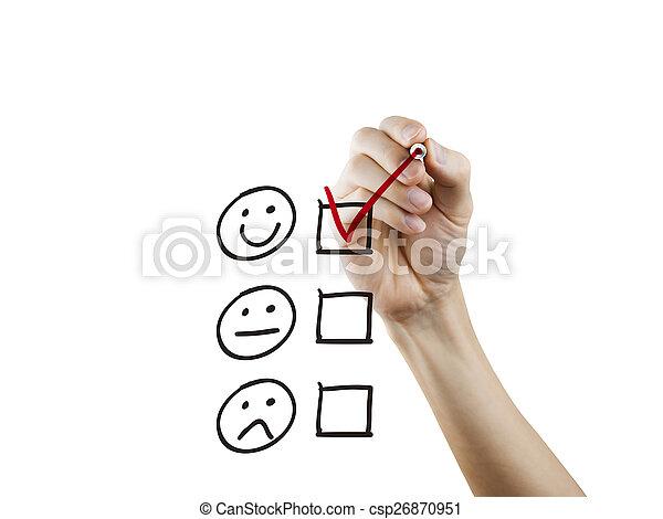 client, dessiné, questionnaire, service, main - csp26870951