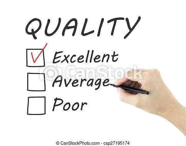 client, formulaire, service, choisir, excellent, évaluation - csp27195174