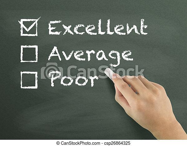 client, formulaire, service, choisir, excellent, évaluation - csp26864325