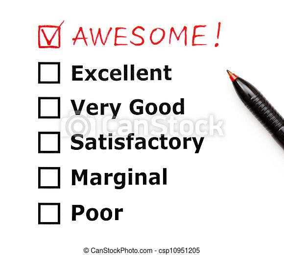 client, impressionnant, évaluation, formulaire - csp10951205
