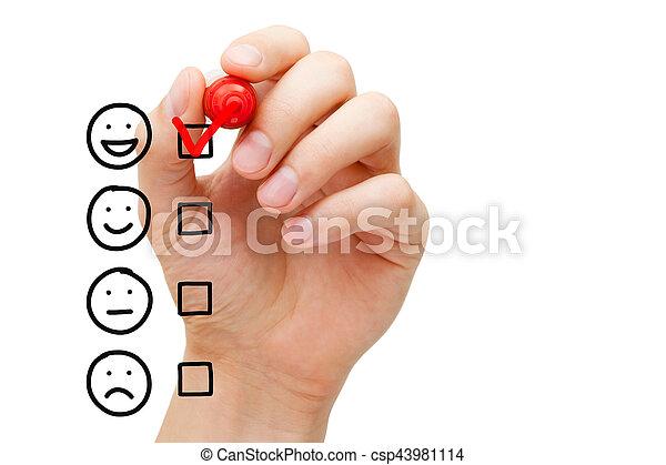 client, impressionnant, évaluation, service, formulaire - csp43981114