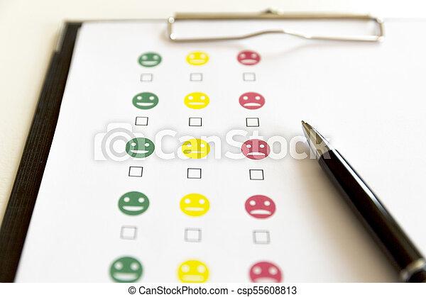 client, pen., évaluation, enquête, service - csp55608813