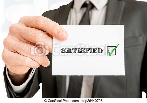 client, -, réaction, satisfait - csp26440795
