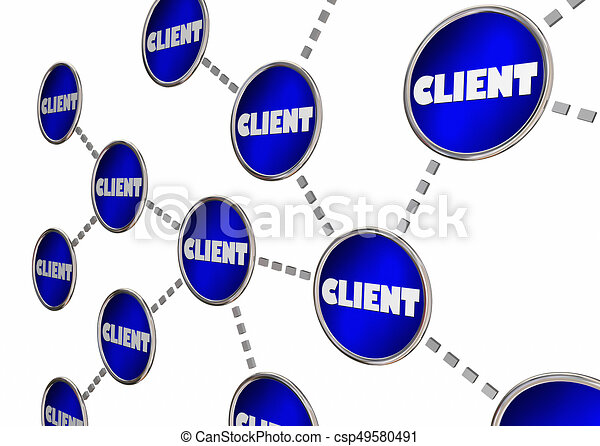 Client Referrals Grow Business Connected Circle Network 3d Illustration - csp49580491