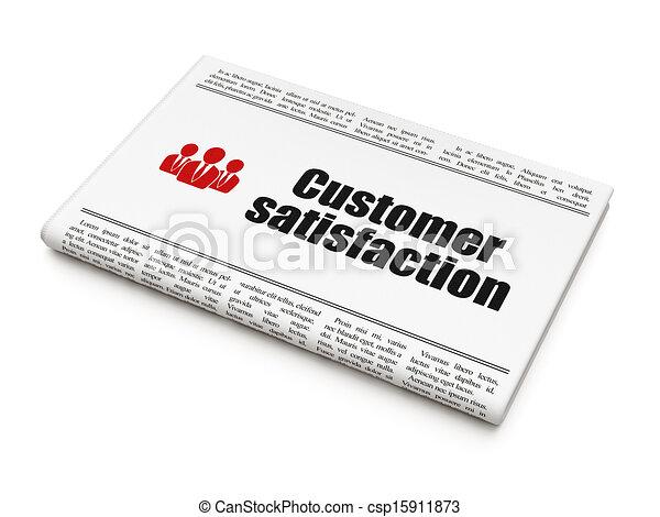 client, render, professionnels, titre, satisfaction, fond, publicité, journal, nouvelles, blanc, icône, concept:, 3d - csp15911873