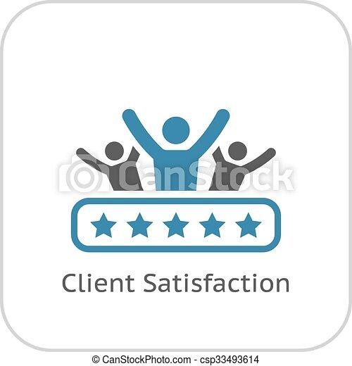 Client Satisfaction Icon. Flat Design. - csp33493614