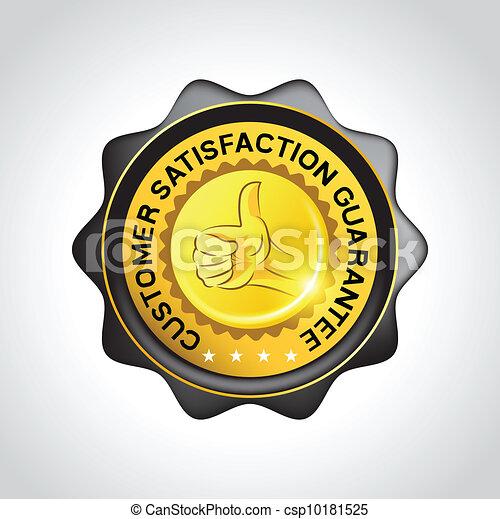client, vecteur, écusson, garantie - csp10181525