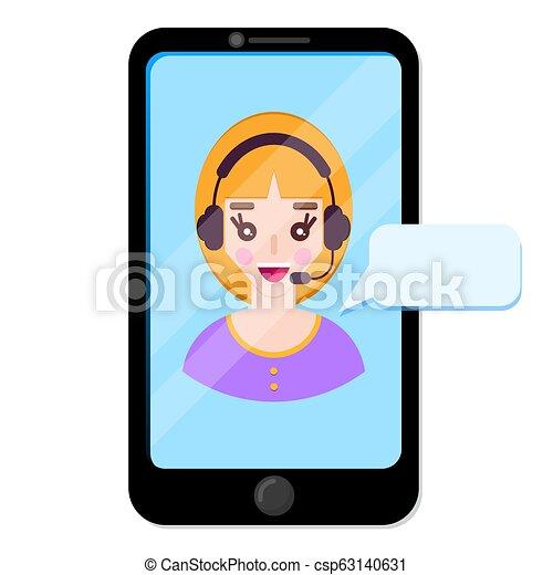 client., wykres, operator, online - csp63140631