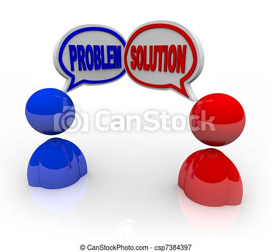 cliente, ajuda, serviço, apoio, solução, problema - csp7384397