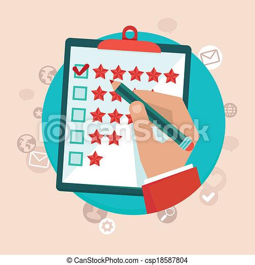 cliente, appartamento, stile, concetto, feedback, vettore - csp18587804