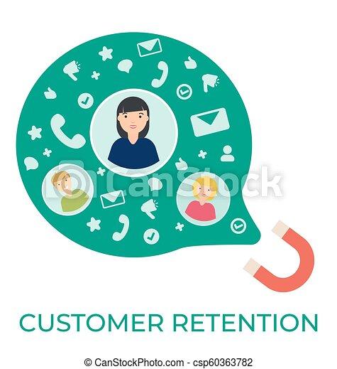cliente, appartamento, vettore, illustrazione, ritenzione - csp60363782