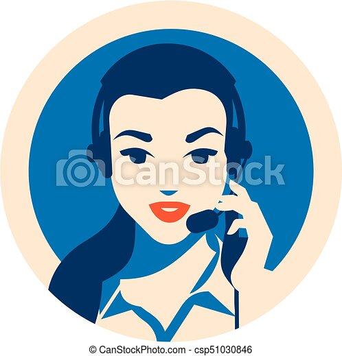 Llama al operador central con afiche. Servicios de clientes y comunicación, apoyo al cliente, asistencia telefónica. - csp51030846