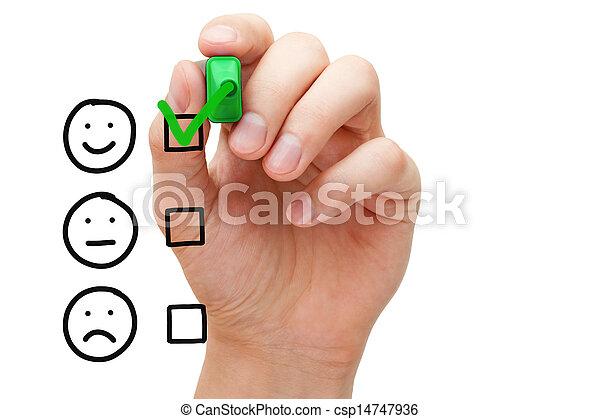 cliente, avaliação, serviço, excelente - csp14747936