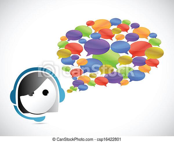 cliente, comunicazione, concetto, servizio - csp16422801