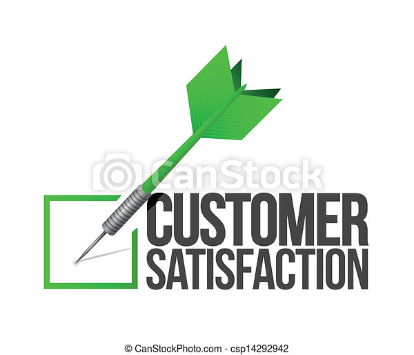 Apunta a una buena ilustración de servicio al cliente - csp14292942