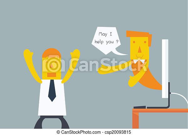 cliente, concettuale, servizio - csp20093815