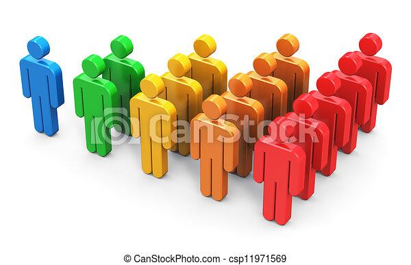 Crecimiento de clientes - csp11971569