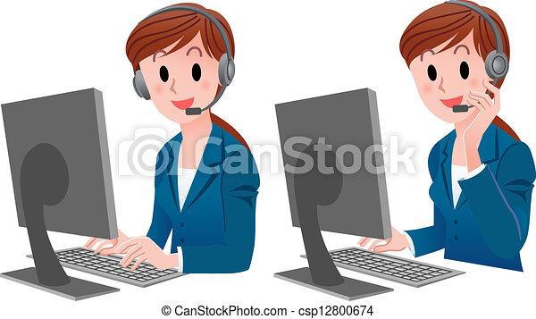 cliente, cute, jogo, serviço - csp12800674