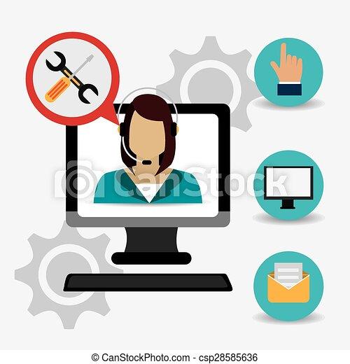 cliente, design. - csp28585636