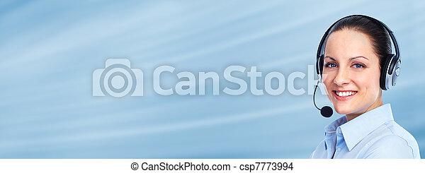 cliente, operatore, woman., centro chiamata - csp7773994