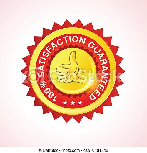 cliente, vettore, distintivo, garanzia - csp10181543