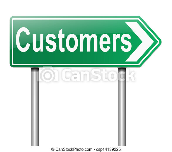 El concepto de los clientes. - csp14139225
