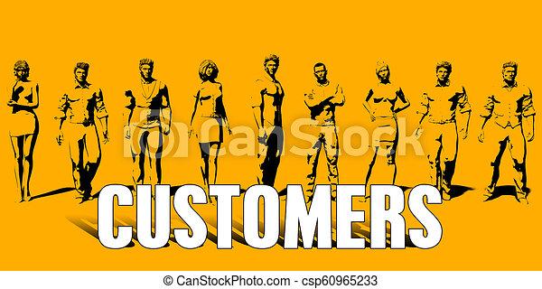 El concepto de los clientes - csp60965233