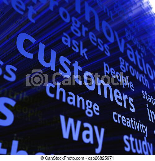 El concepto de los clientes - csp26825971