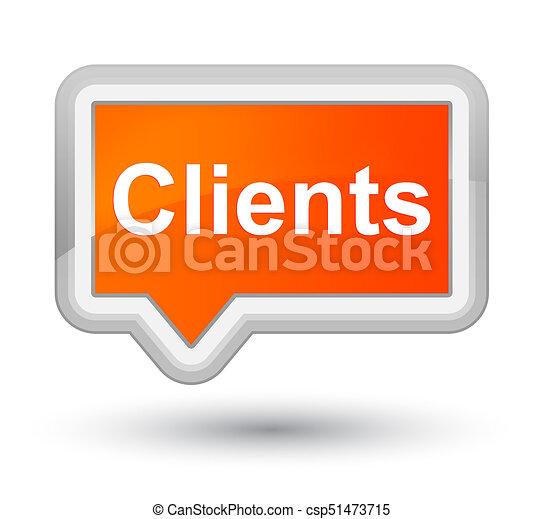 Clients prime orange banner button - csp51473715