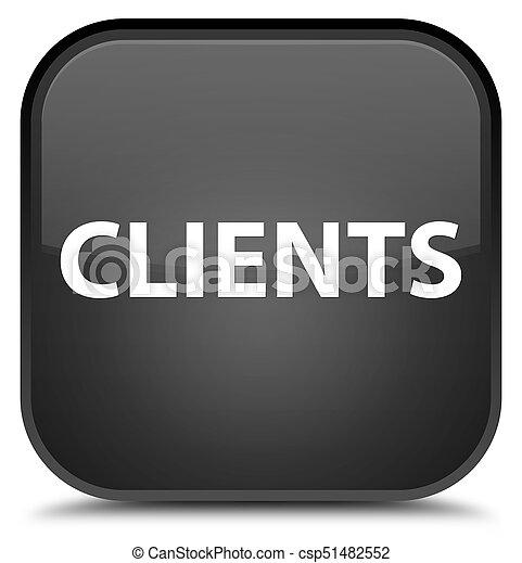 Clients special black square button - csp51482552
