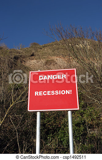 Cliff Danger sign - csp1492511