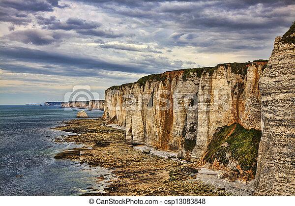 Cliffs of Etretat - csp13083848