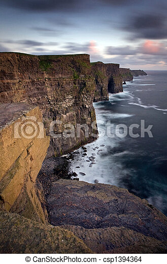 Cliffs of Moher, Co Clare, Ireland. - csp1394364