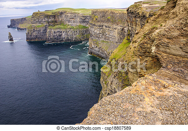 Cliffs of Moher in County Clare, Ireland - csp18807589