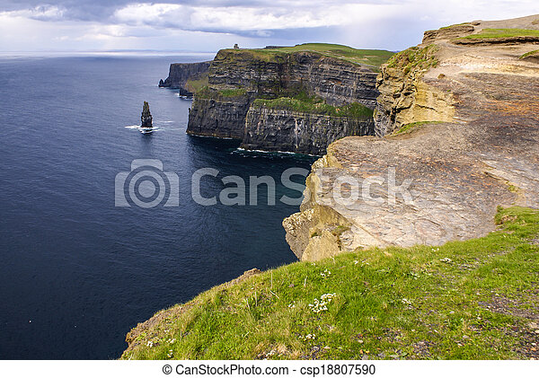 Cliffs of Moher in County Clare, Ireland - csp18807590
