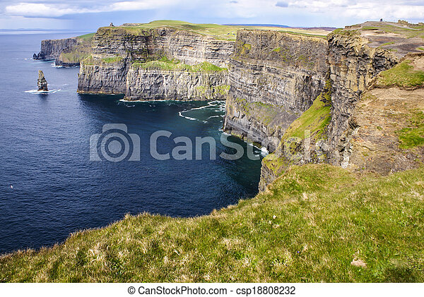 Cliffs of Moher in County Clare, Ireland - csp18808232