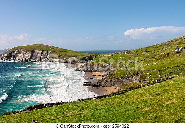 Cliffs on Dingle Peninsula, Ireland - csp12594022