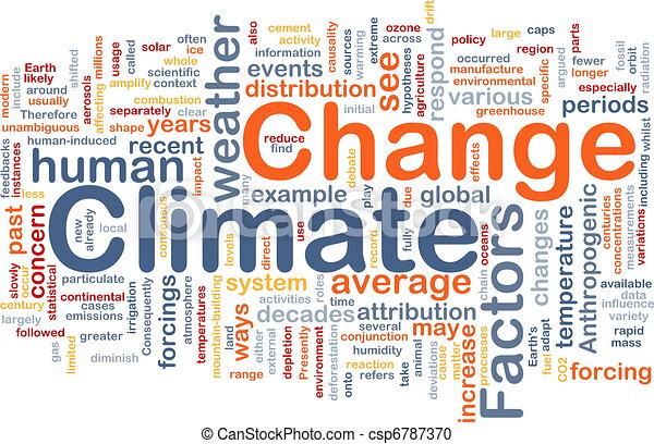 Climate change background concept - csp6787370