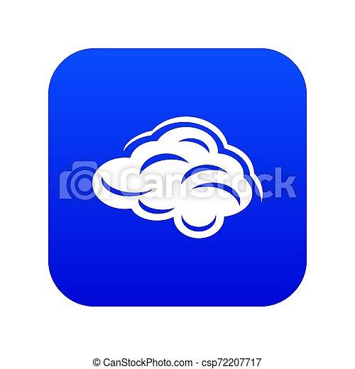 Climate cloud icon blue - csp72207717
