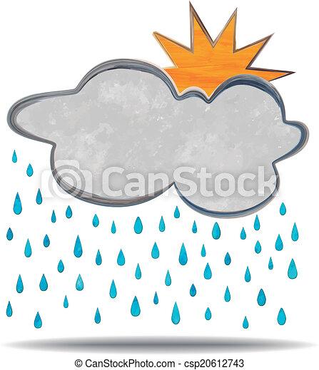 climate., wolke, regen, sonne - csp20612743
