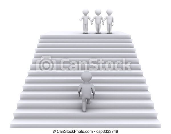 Climb the stairs to join the team - csp8333749