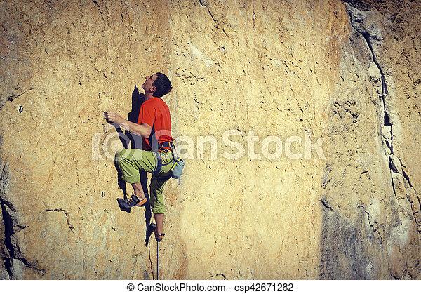 climber., roccia - csp42671282