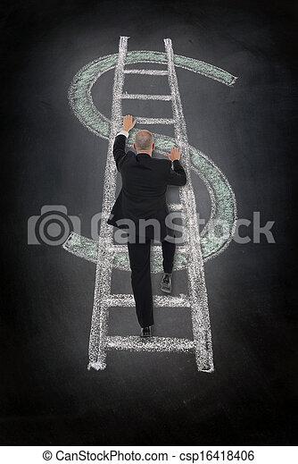 climbing dollar ladder - csp16418406