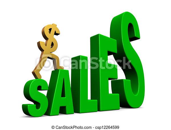 Climbing Sales - csp12264599