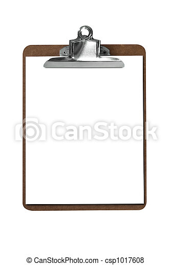 Clip board with paper - csp1017608